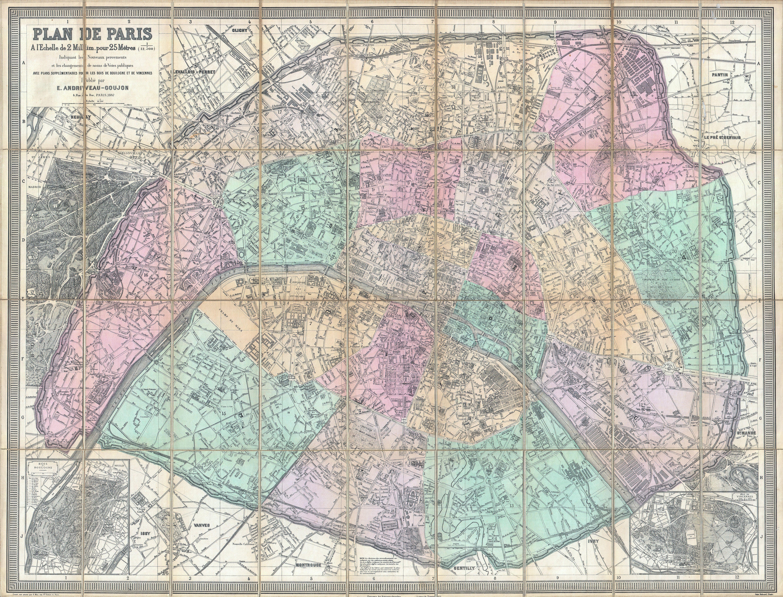 File1882 AndriveauGoujon Pocket Map of Paris France – Plan De Paris Map