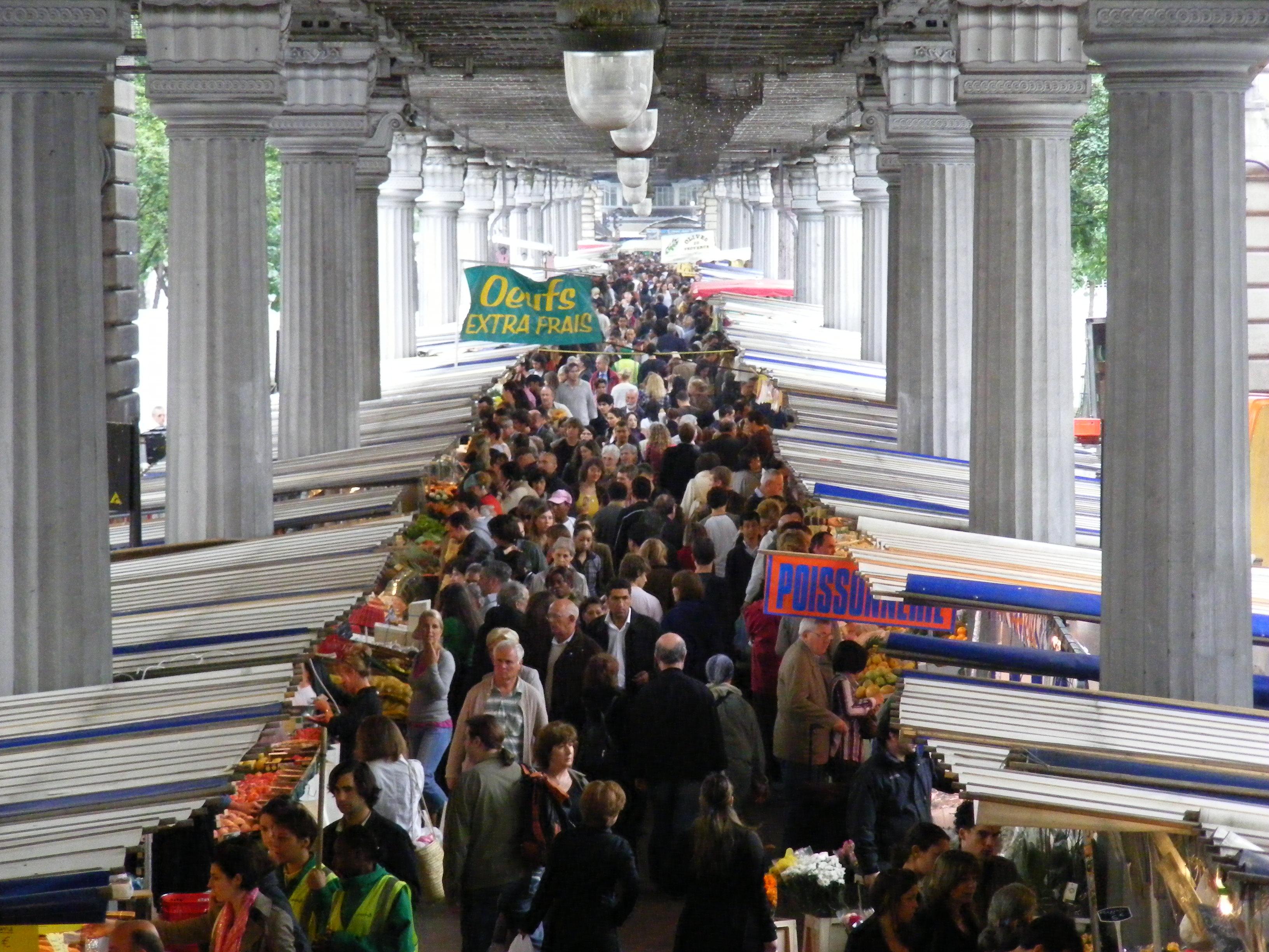 File a public market in paris march de grenelle located in boulevard grenell - Marche de tissu a paris ...