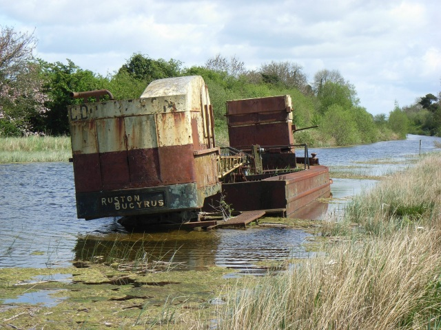 Abandoned barge on the Royal Canal at Croboy, Co. Meath - geograph.org.uk - 1284838