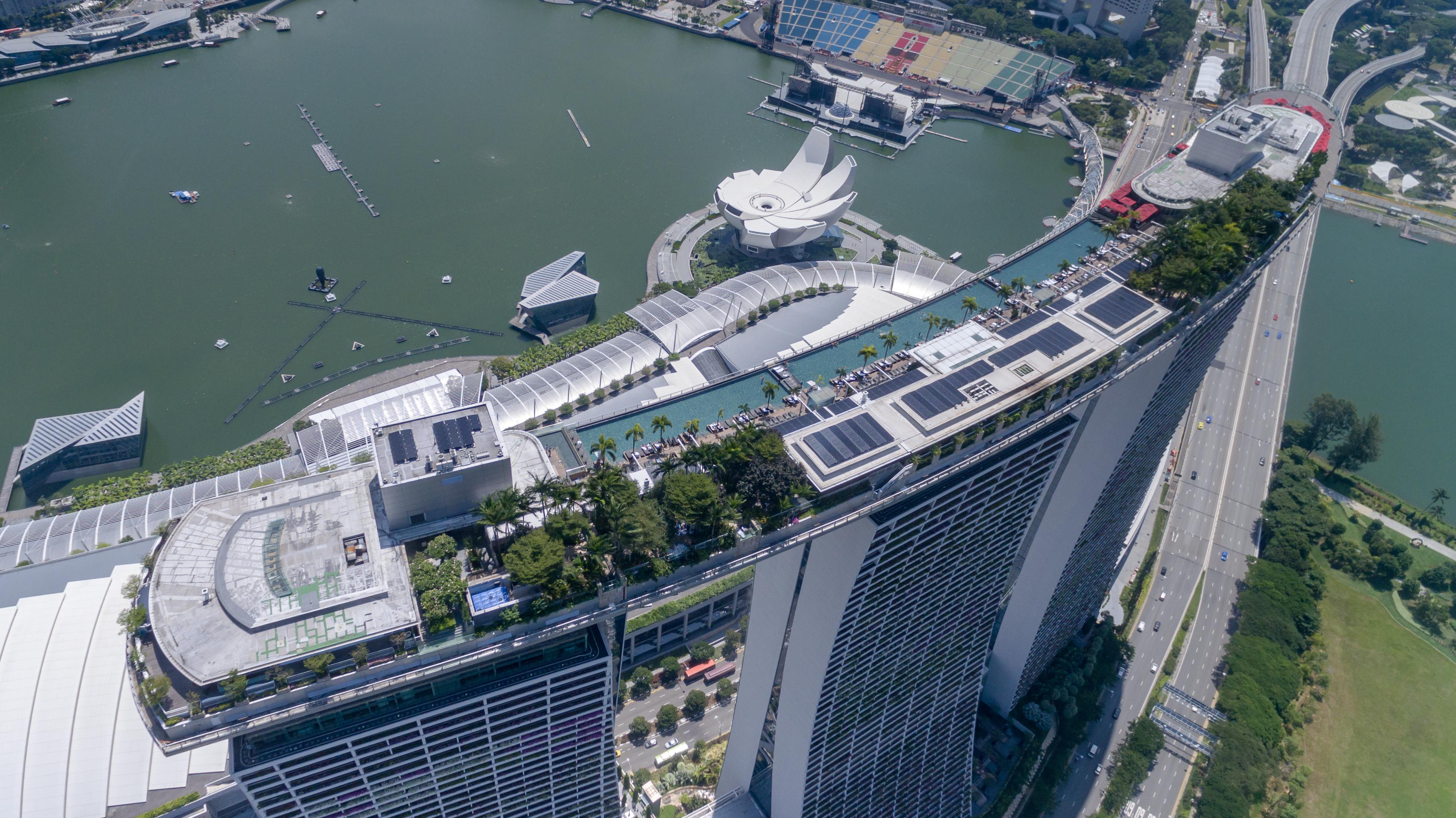Singapur Pool Auf Dach