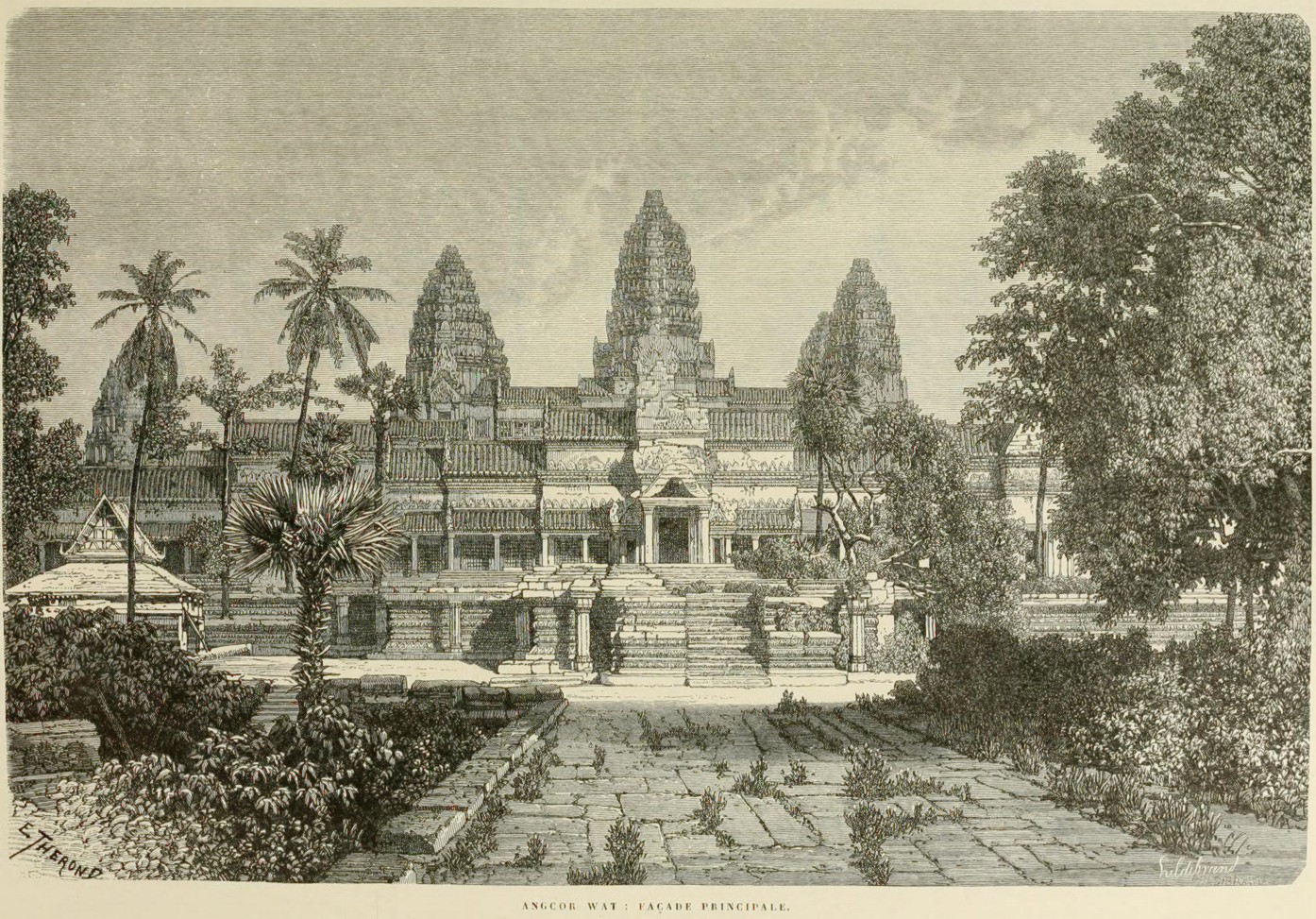 It's just a graphic of Crush Angkor Wat Drawing