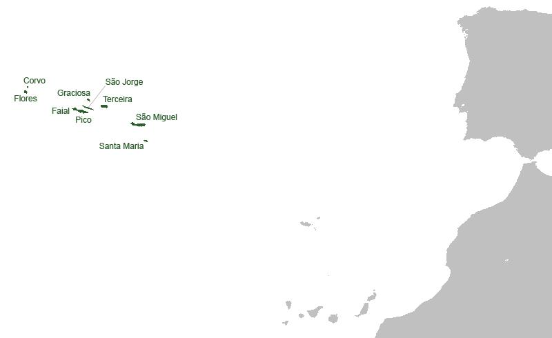 Kaart van Azoren