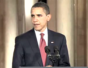 English: A screengrab from President Barack Ob...