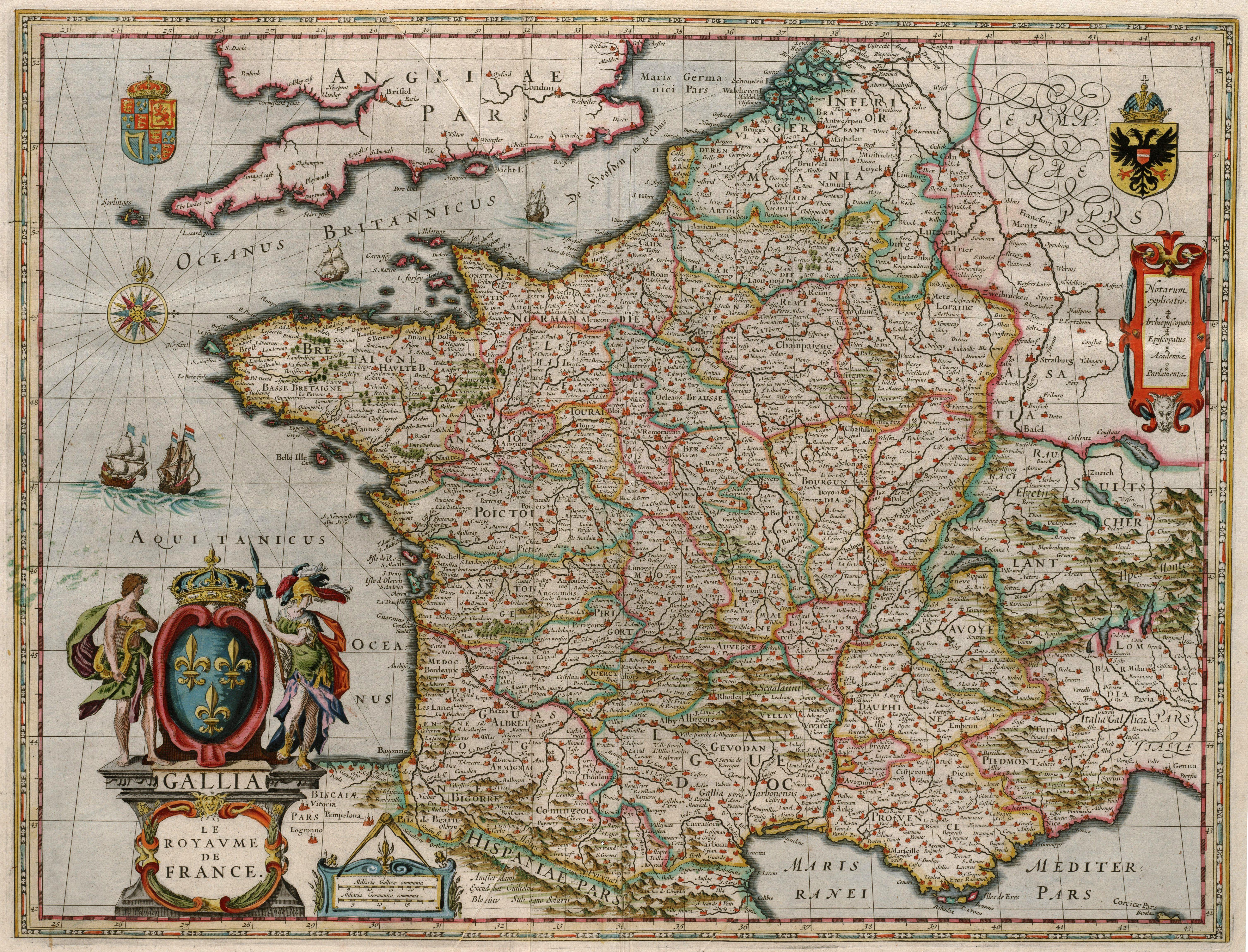 File blaeu 1649 gallia le royaume de france jpg wikimedia commons