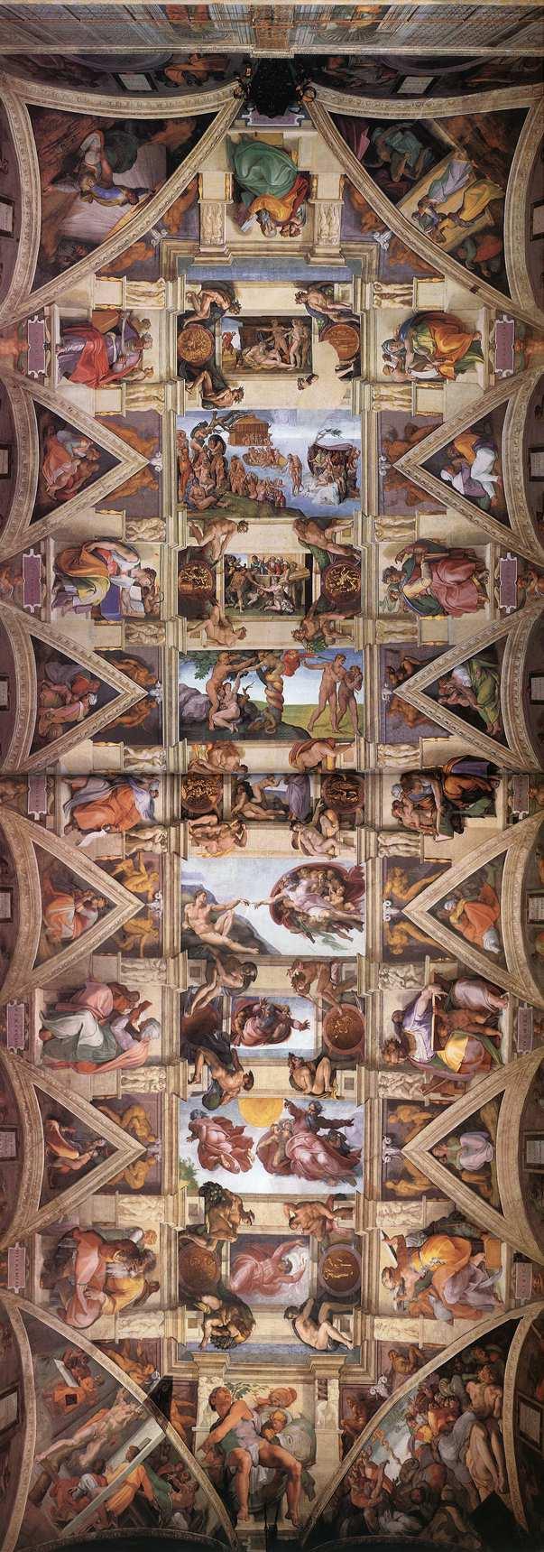 Plafond de la chapelle Sixtine à Rome.