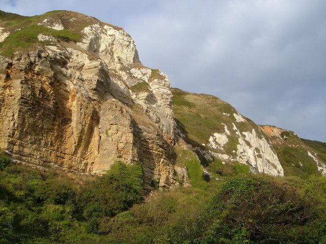 Cliffs above Hooken landslip - geograph.org.uk - 242208