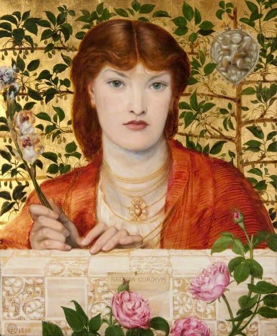 """Tableau """"Regina Cordium"""" de Dante Gabriel Rossetti Au Kelvingrove museum de Glasgow."""