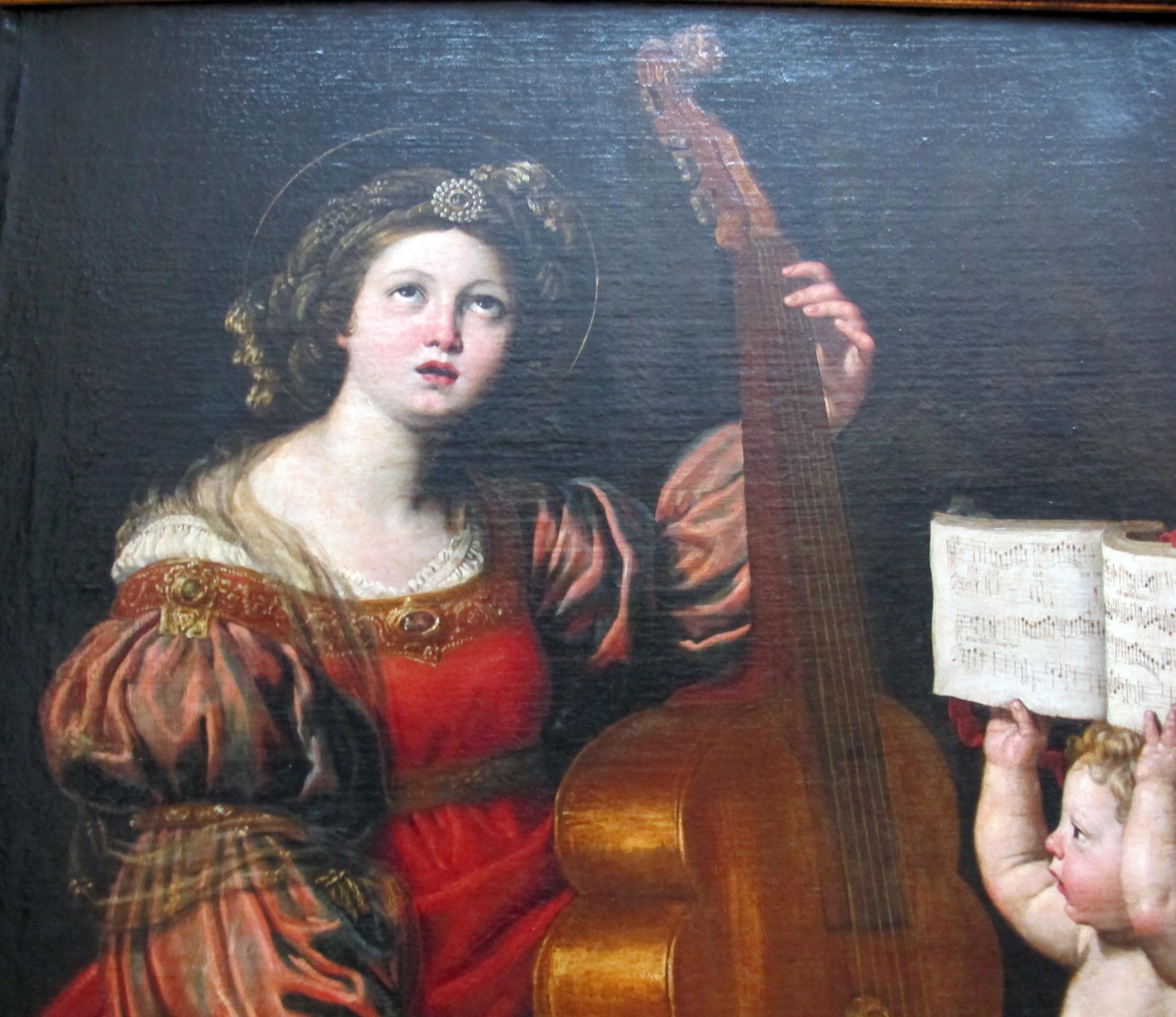 File Domenichino Santa Cecilia Con Un Angelo Che Le Regge