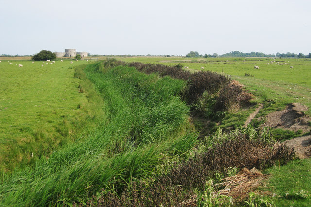 Drainage Ditch near Camber Castle - geograph.org.uk - 1341824
