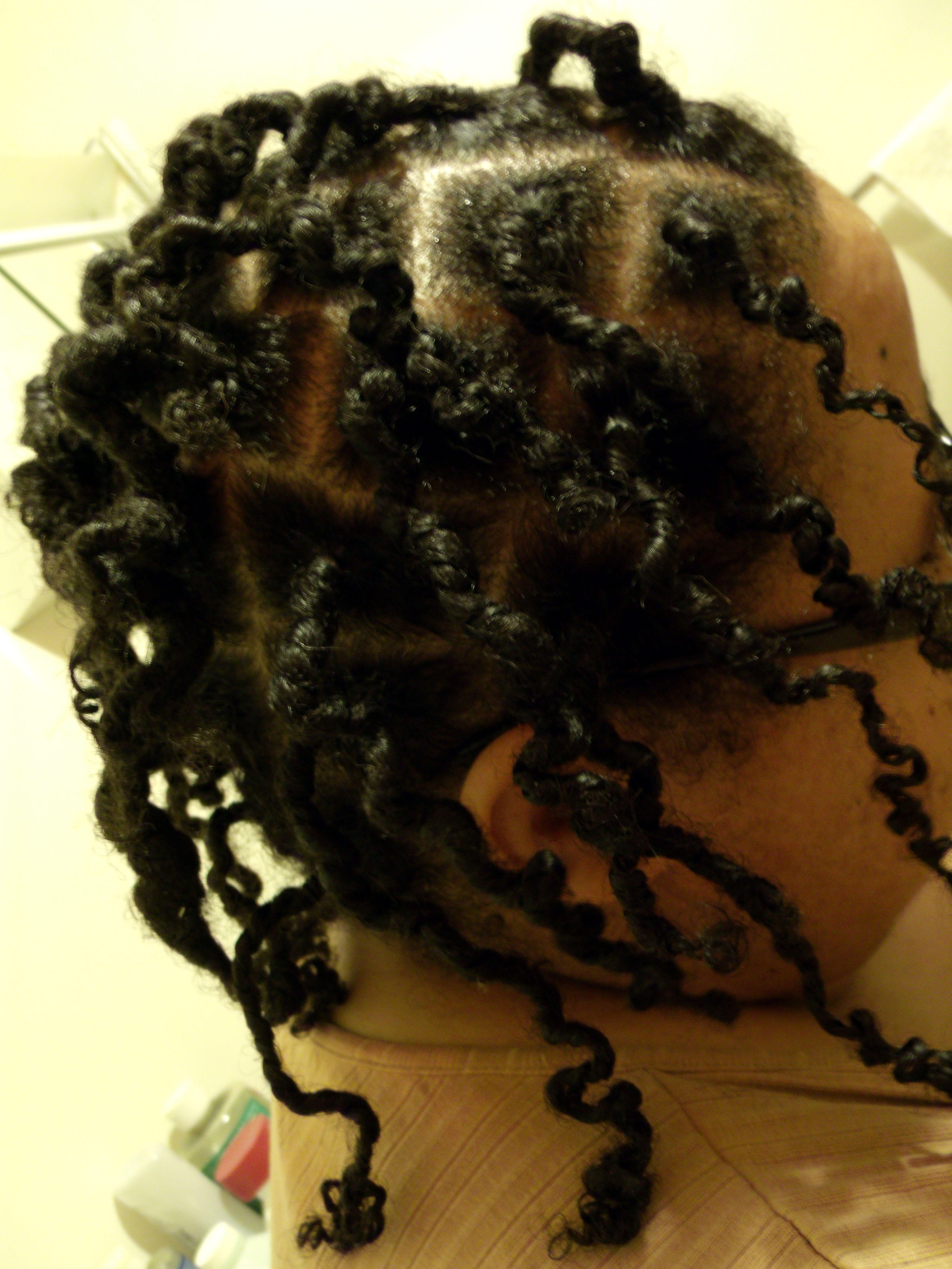 File Dreadlocks Of An African American Person After Being