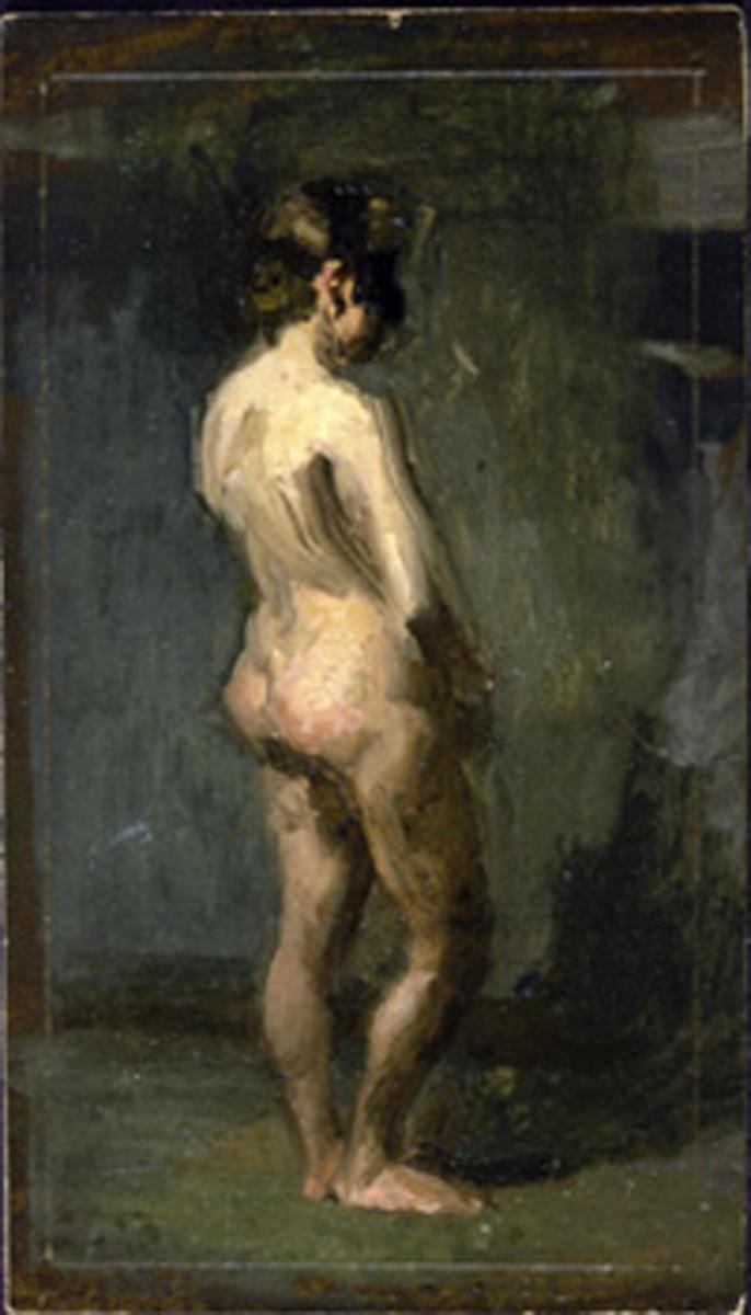 Eakins   Figure Study Masked Nude Woman 19  STUDENT LEO BANGLADESH