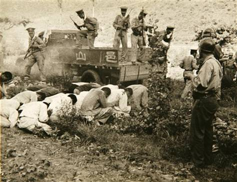 File:Execution of South Korean political prisoners by the South Korean military and police at Daejeon, South Korea, over several days in July 1950.jpg