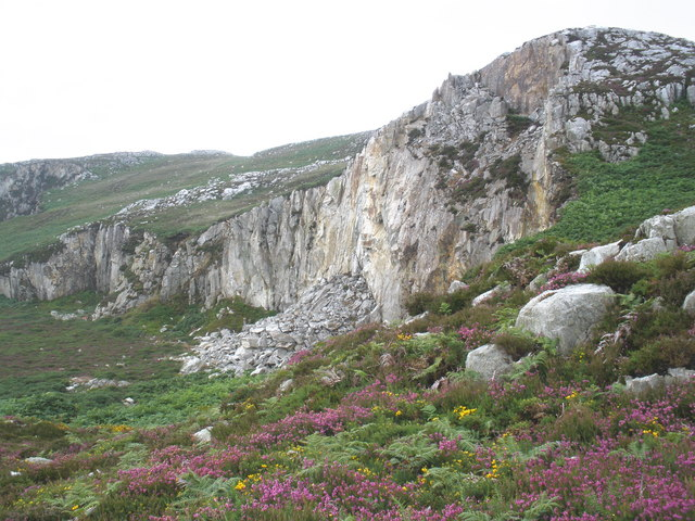 Former quarry, on the side of Holyhead Mountain - geograph.org.uk - 1412059
