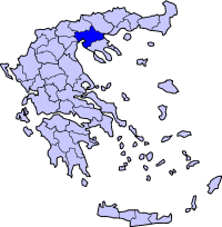 Location of Thessaloniki Prefecture in Greece
