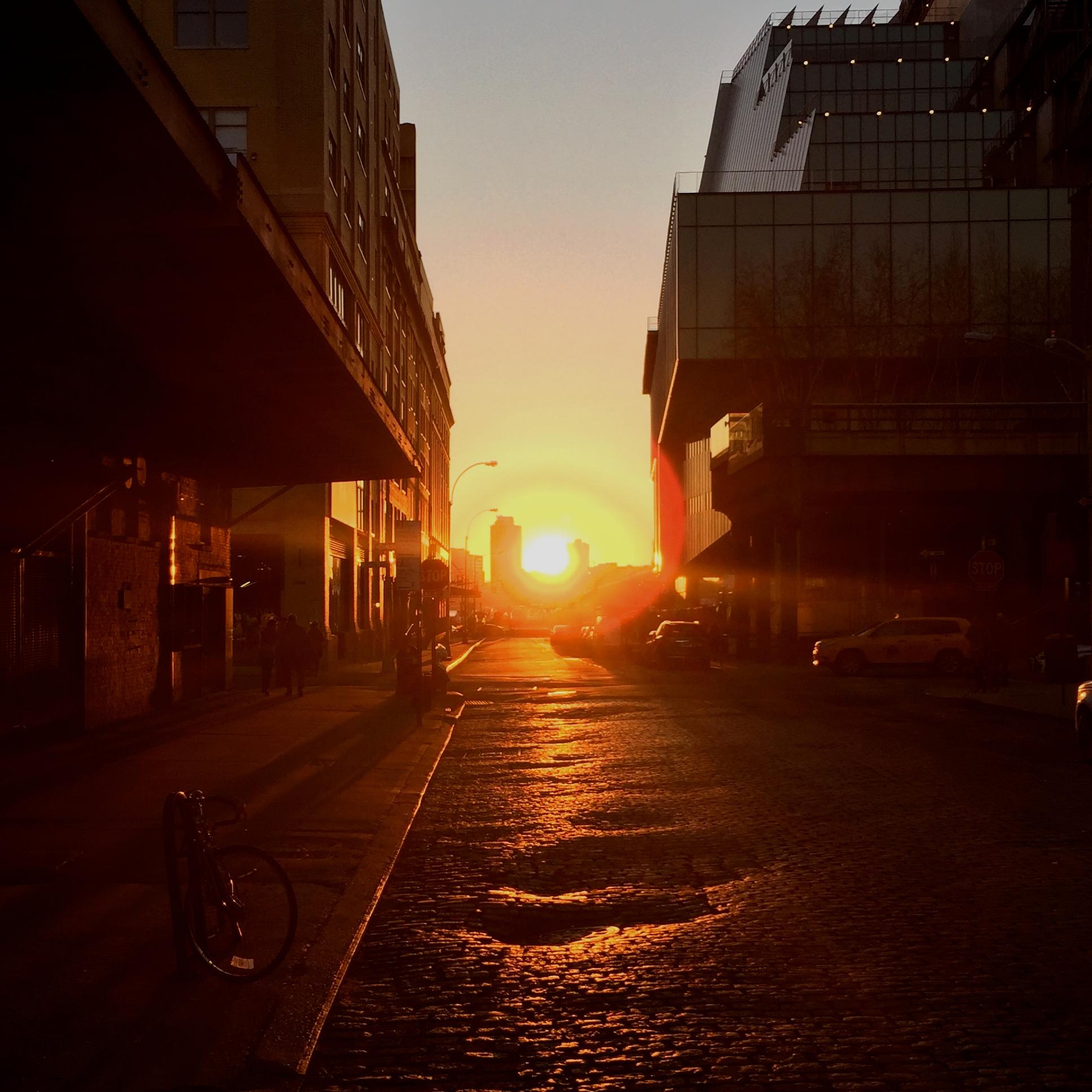 File:Greenwich Village NYC Sunset 032415 Gansevoort Street