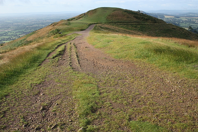File:Guttering on the old track on Worcestershire Beacon - geograph.org.uk