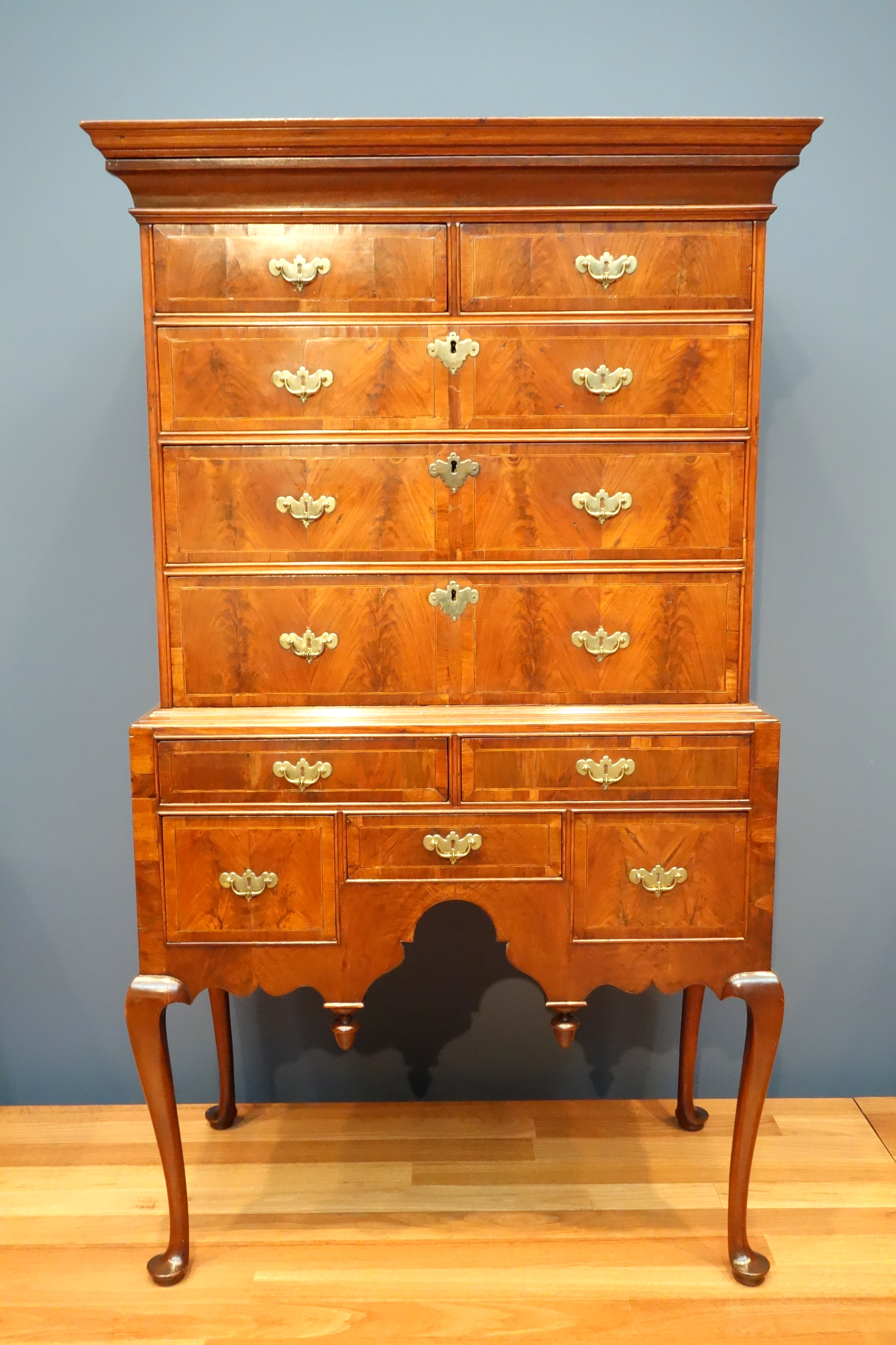 Filehigh Chest Of Drawers Maker Unknown Boston Massachusetts
