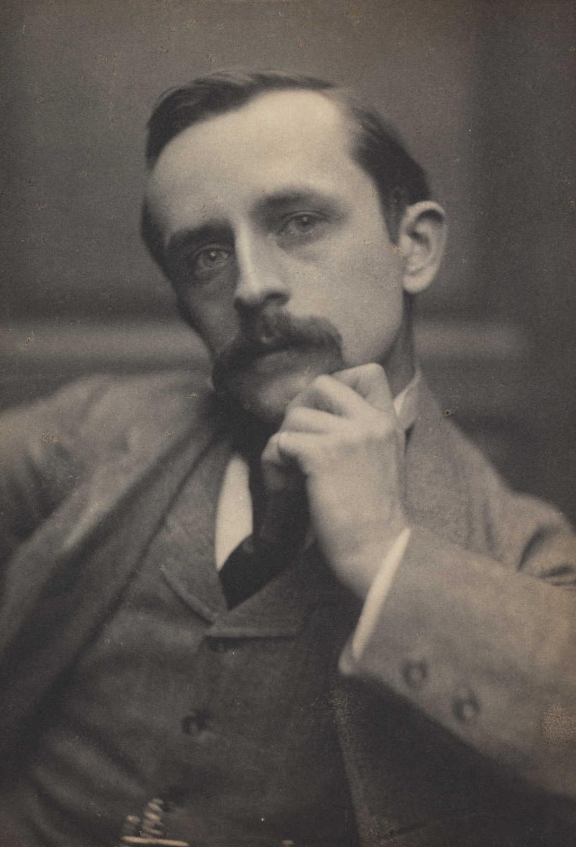 Description J. M. Barrie, 1892. (7893554540).jpg: commons.wikimedia.org/wiki/File:J._M._Barrie,_1892._(7893554540).jpg