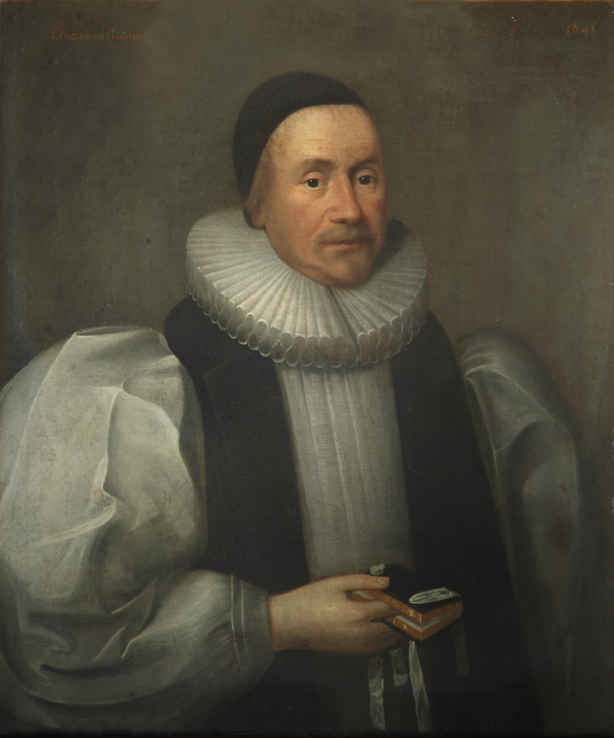 Portrait of Archbishop Ussher by Cornelis Janssens van Ceulen, 1641