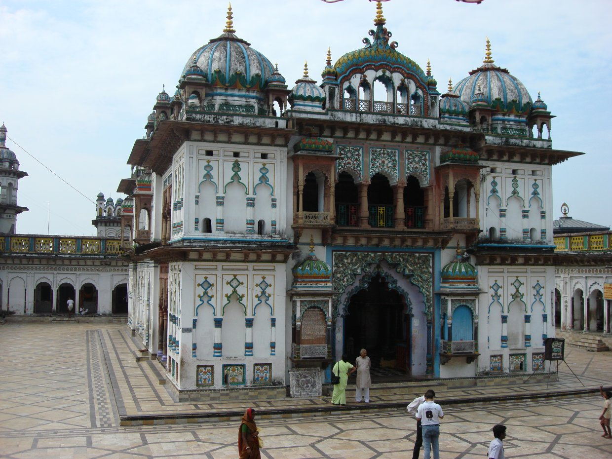 Janakpur Nepal  city pictures gallery : ... inside the temple of Janakpur Dham Nepal Wikimedia Commons