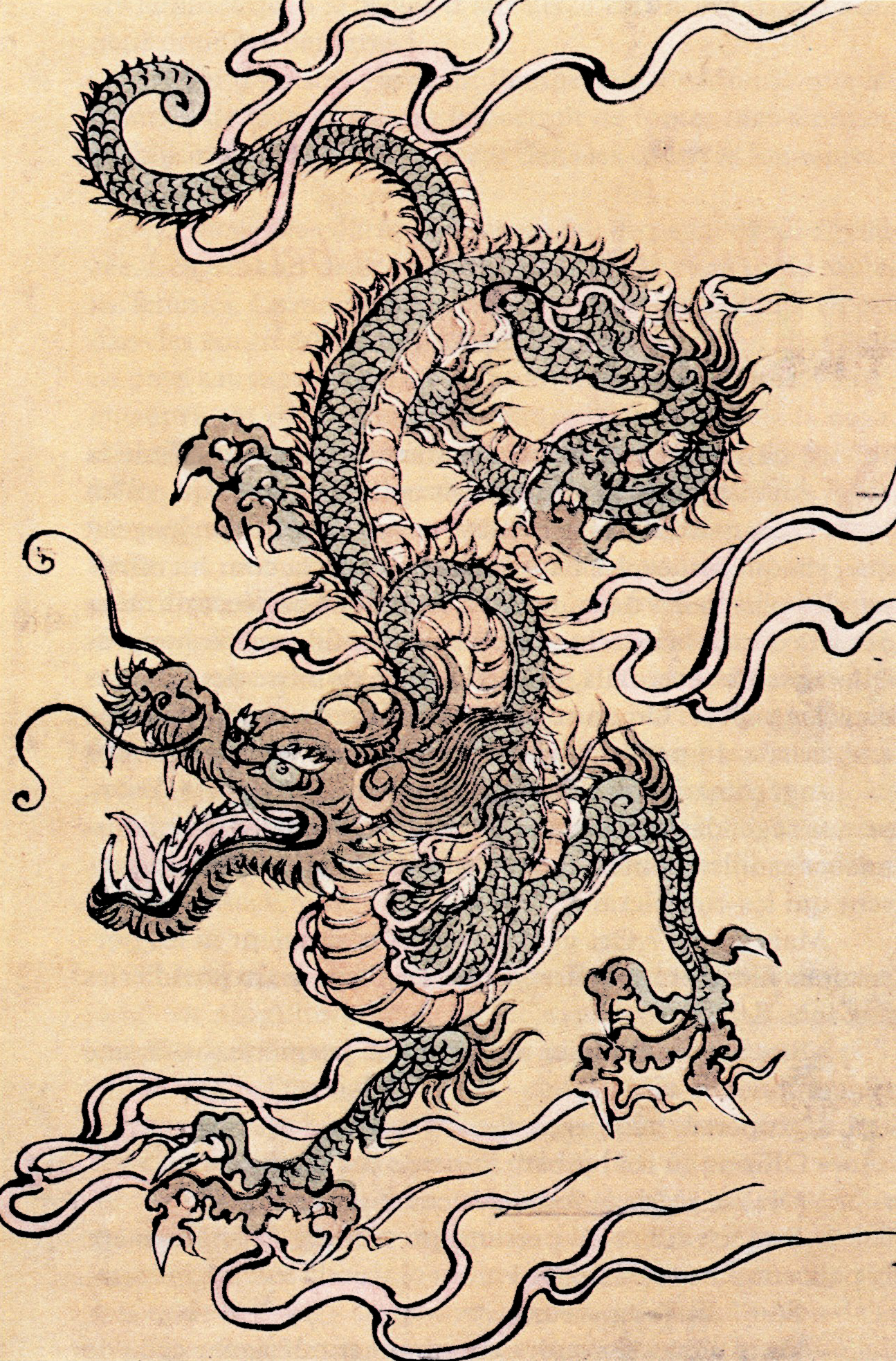 Japanese dragon%2C Chinese school%2C 19th Century 35 Fondos de pantalla de dragónes (WallPapers)