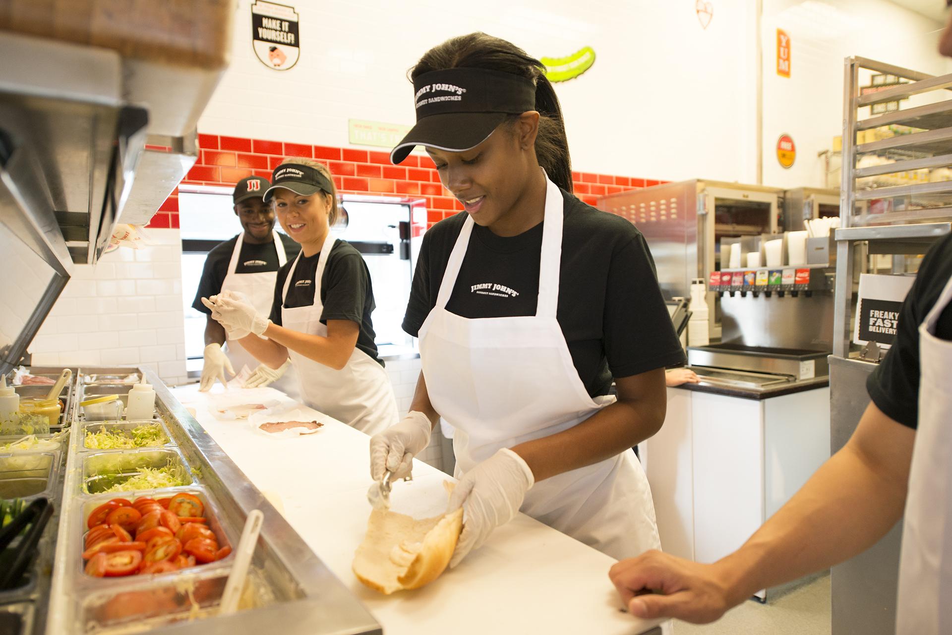 Fast Food Employee Boobs