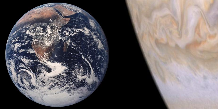 Description jupiter earth comparison at 29 km per px