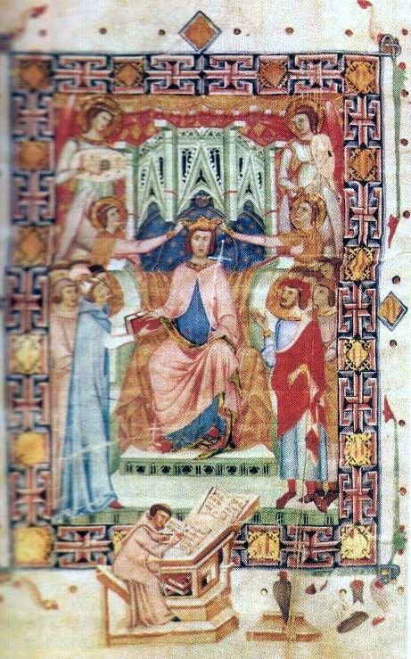 Coronación en Mallorca de Jaime II, protector y mecenas de Ramon Llull.