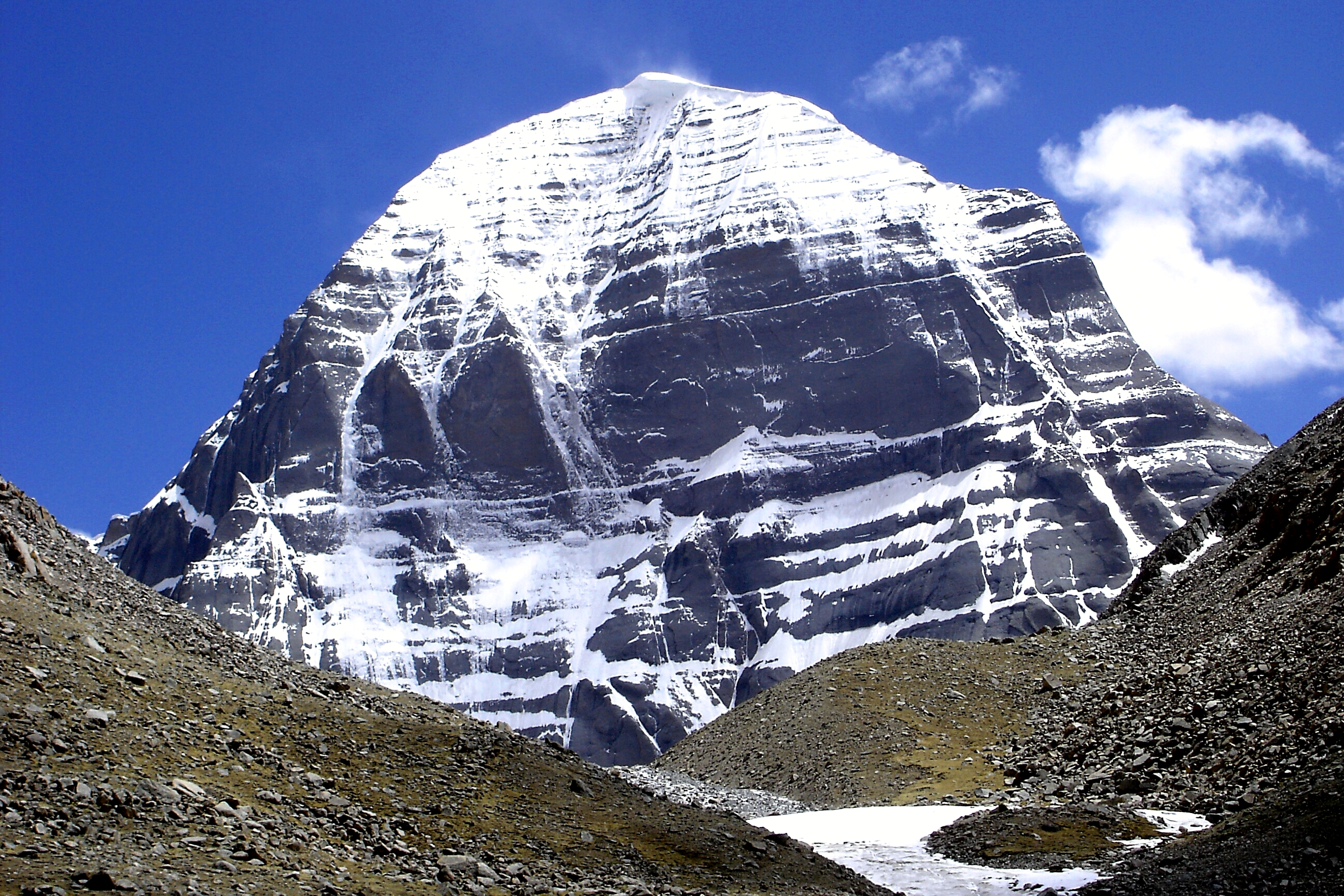 Northern side of Mount Kailash
