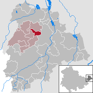 Lödla Place in Thuringia, Germany