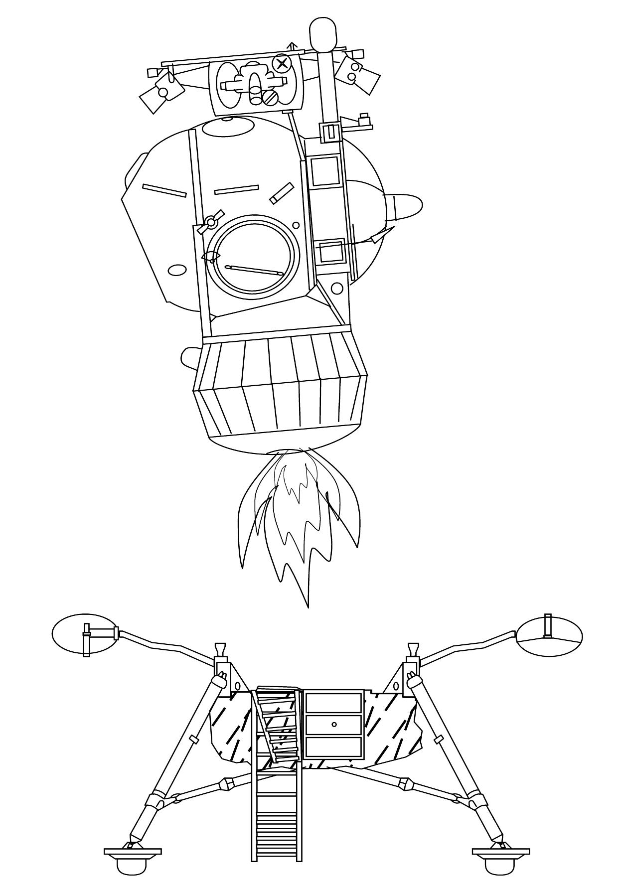drawing apollo 11 moon lander - photo #17
