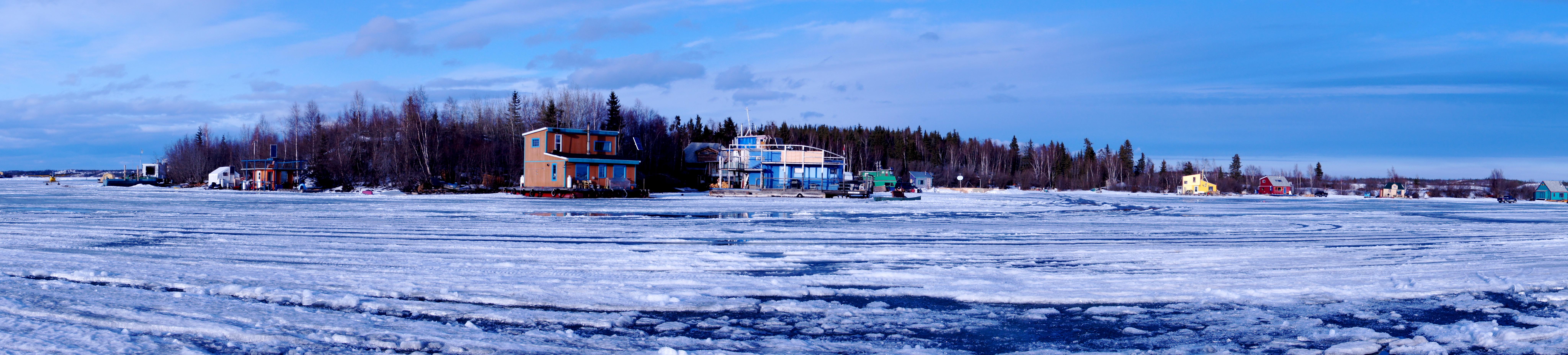 File Late April On Yellowknife Bay Nwt Canada Jpg