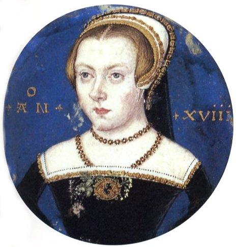 Ritratto miniatura di Elisabetta I di Inghilterra (1550)