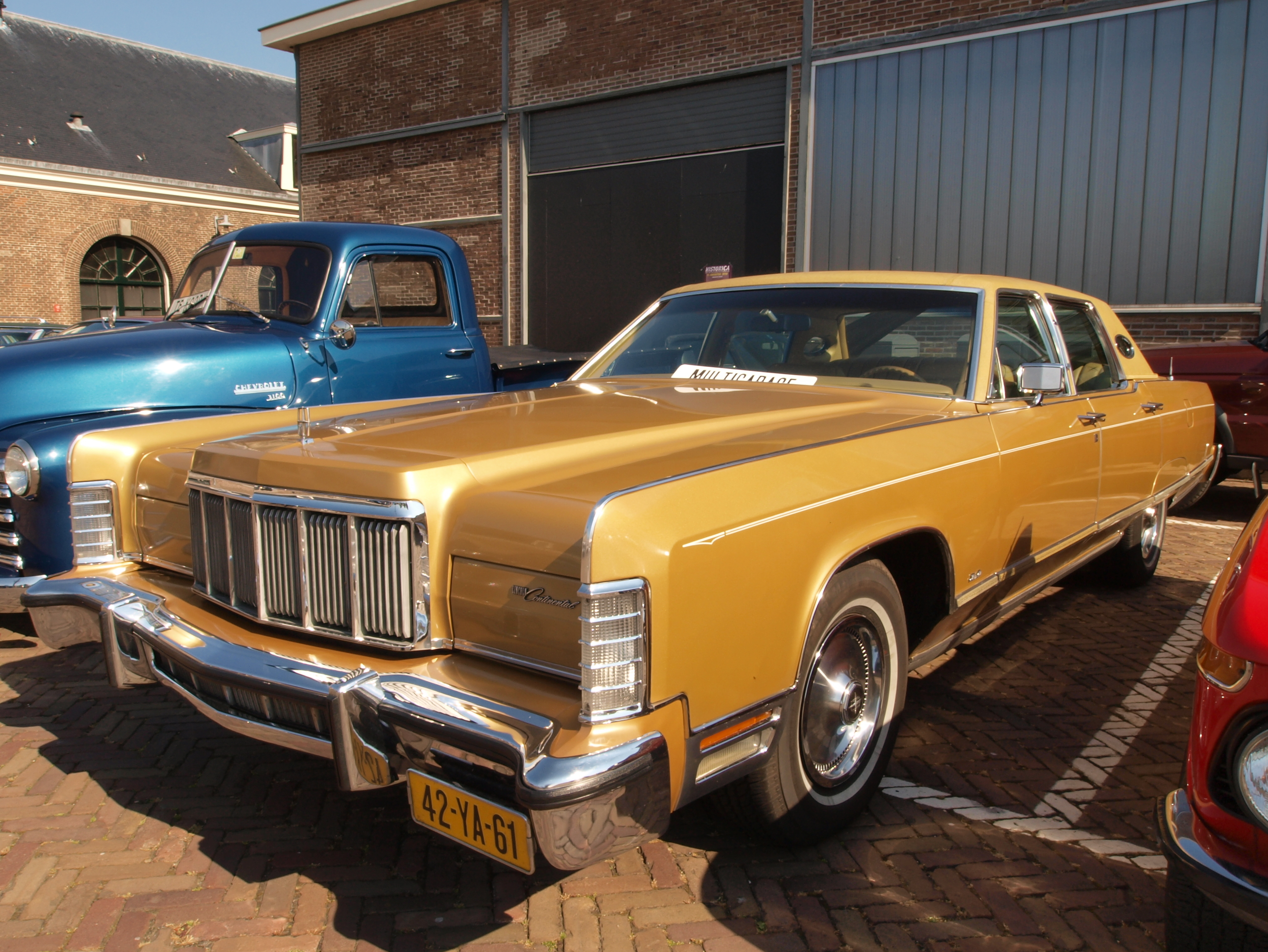 File Lincoln Continental 1972 Dutch Licence Registration 42 Ya 61