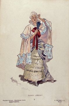 English: Description: Manon's costume for Act ...