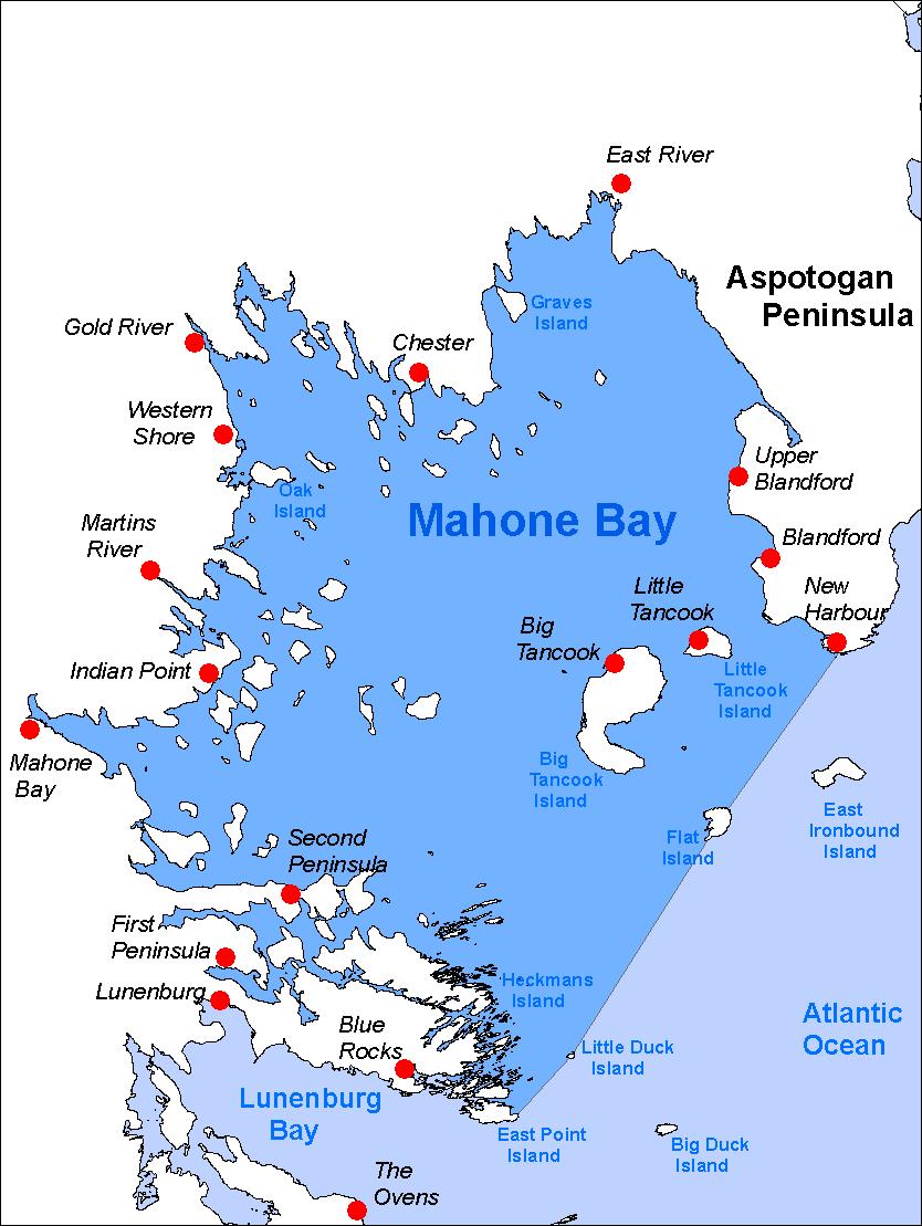 Big Tancook Island Map