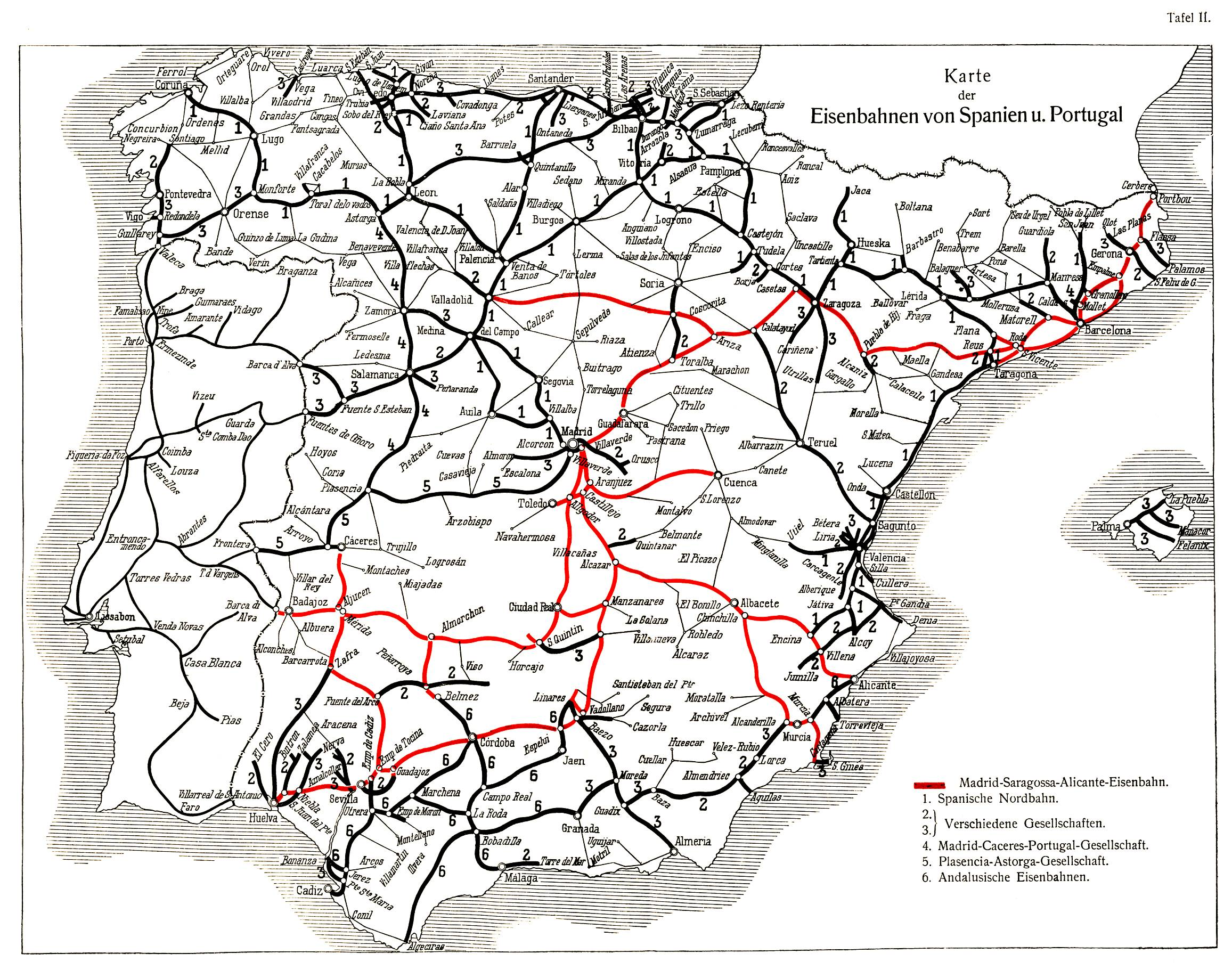 Trains In Spain Map.History Of Rail Transport In Spain Wikipedia