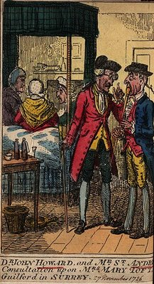 Cartoon of Mary Toft's doctors.