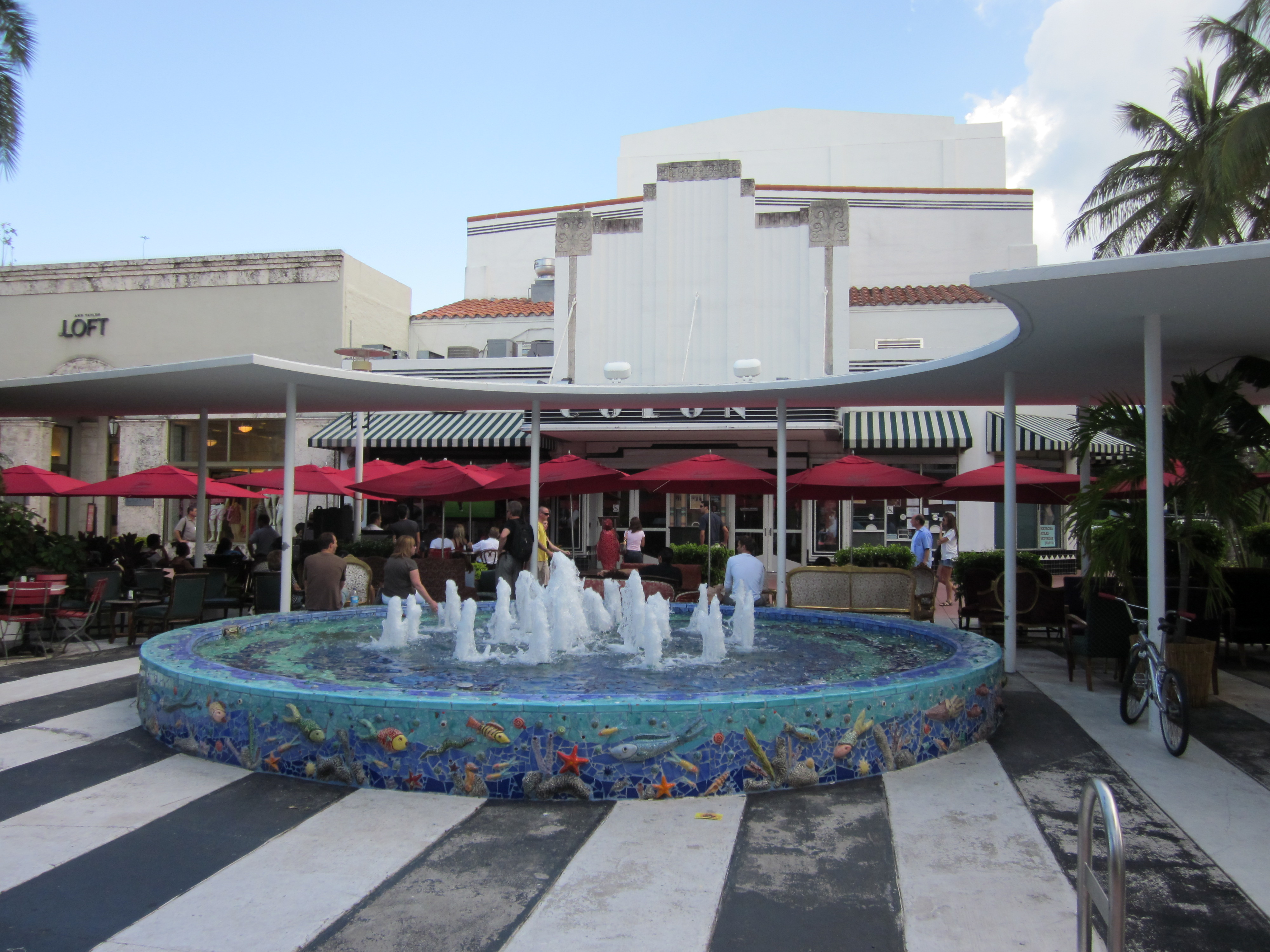 Lincoln Road Mall Map Miami Beach
