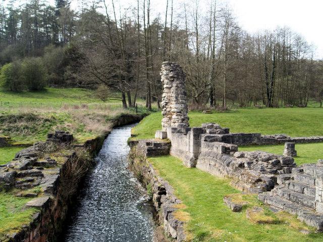 Mill race Roche Abbey. - geograph.org.uk - 493278