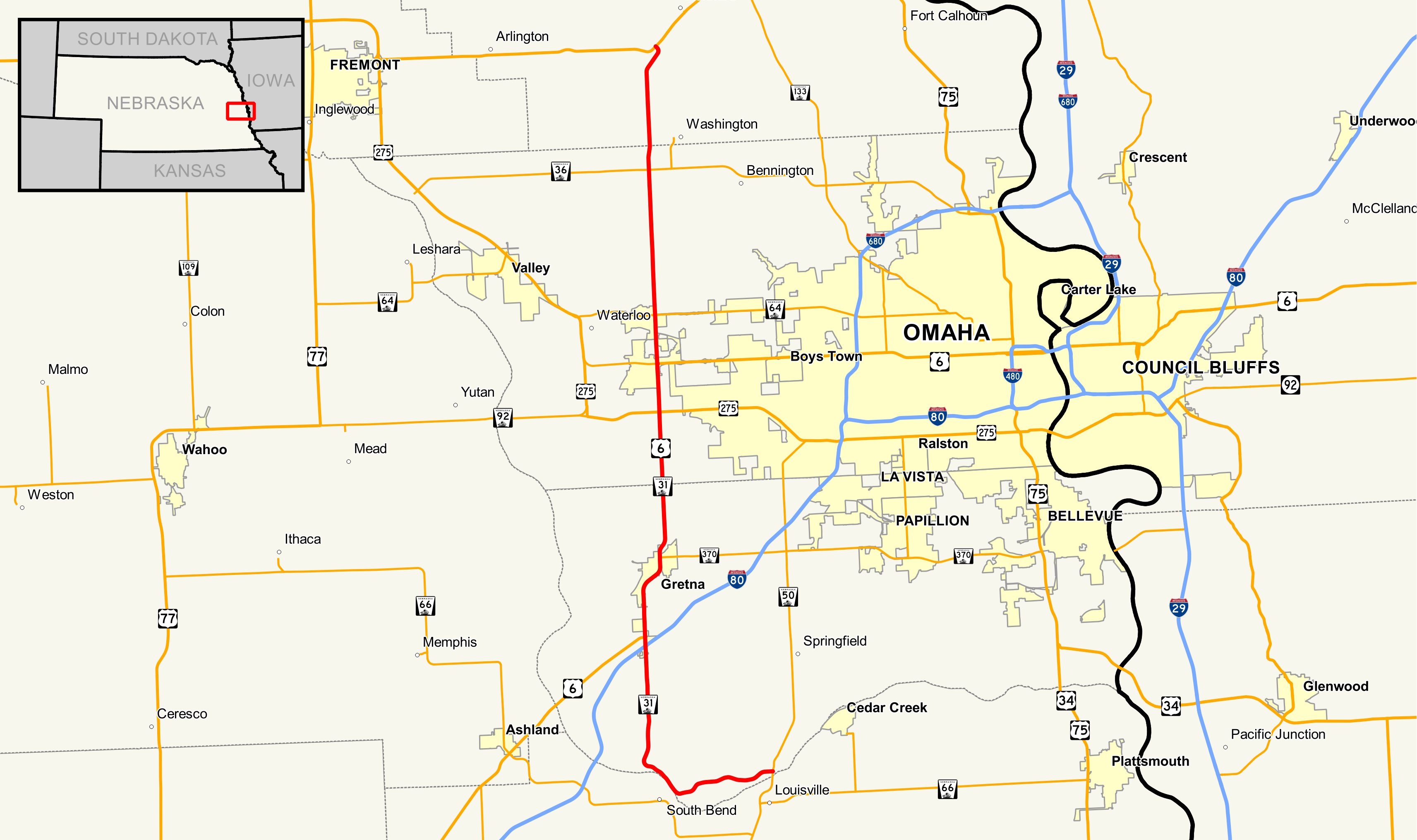 Nebraska Highway 31 - Wikipedia