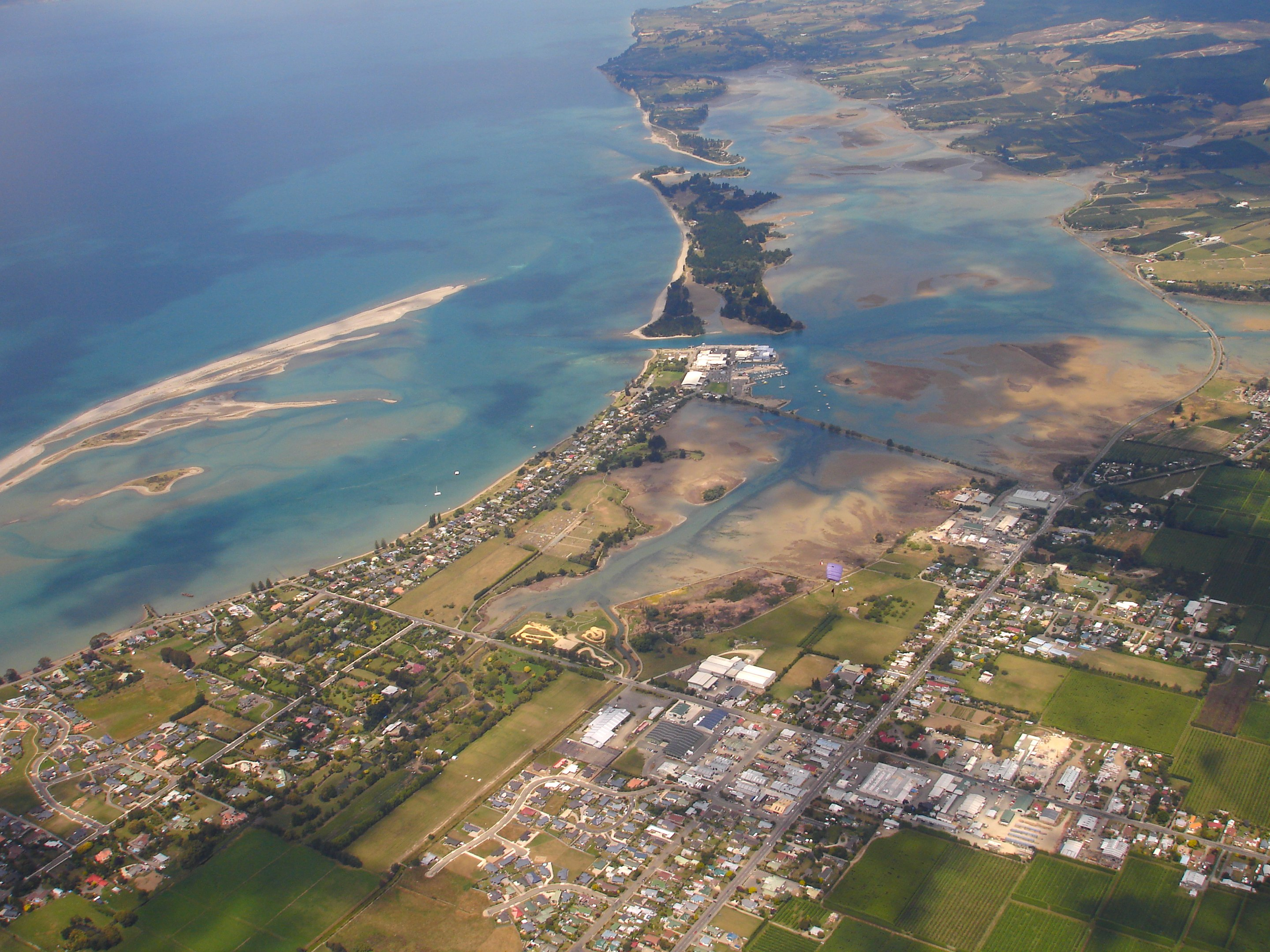 Motueka New Zealand  City new picture : Description New Zealand, Top of the South Island Nelson , Skydiving ...