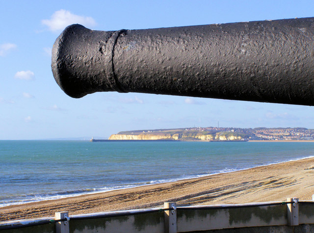 Newhaven from the roof of Seaford Martello Tower - geograph.org.uk - 694560.jpg