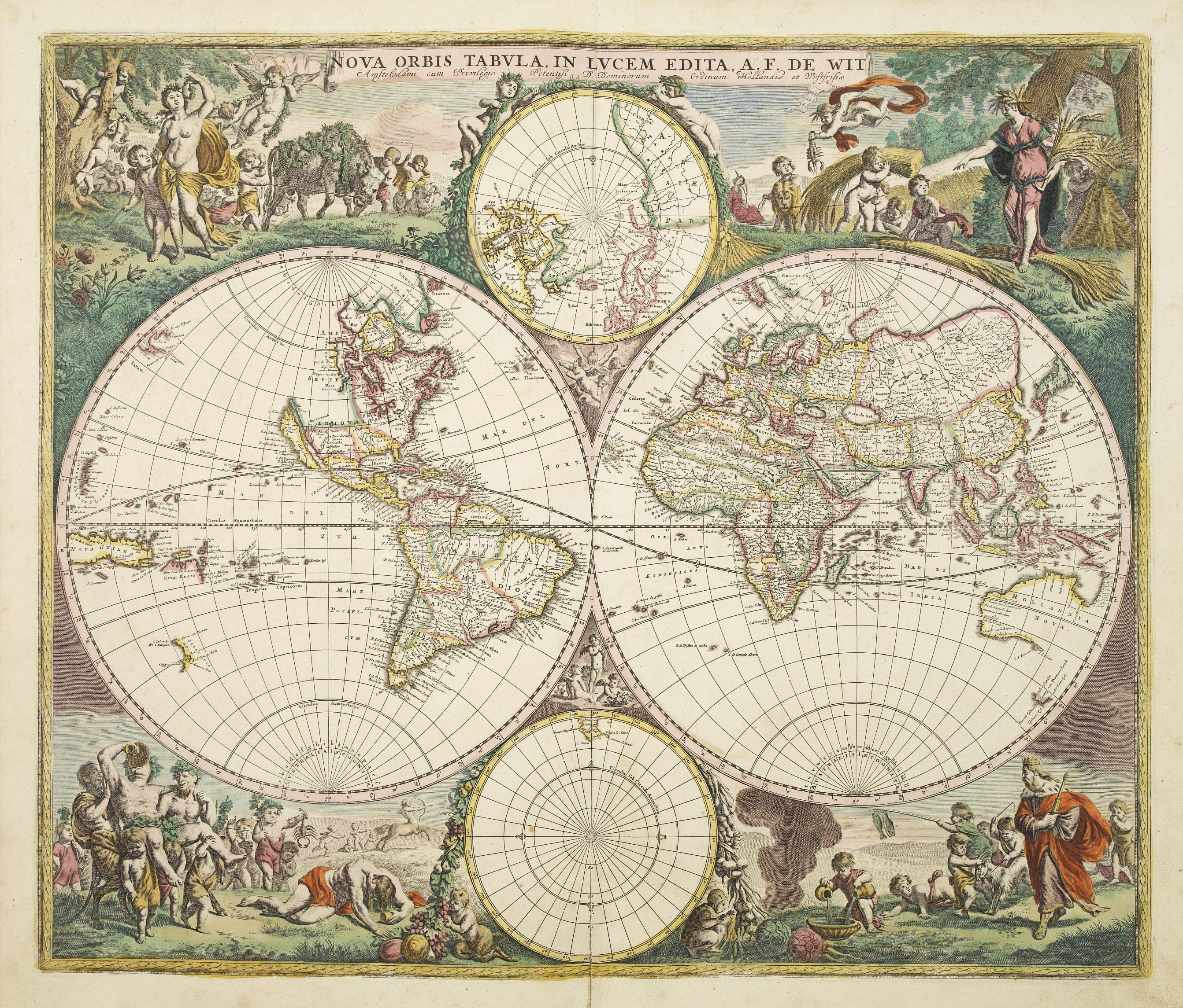 alt=Nova Orbis Tabula in Lucem edita A F de Wit 1680.jpg