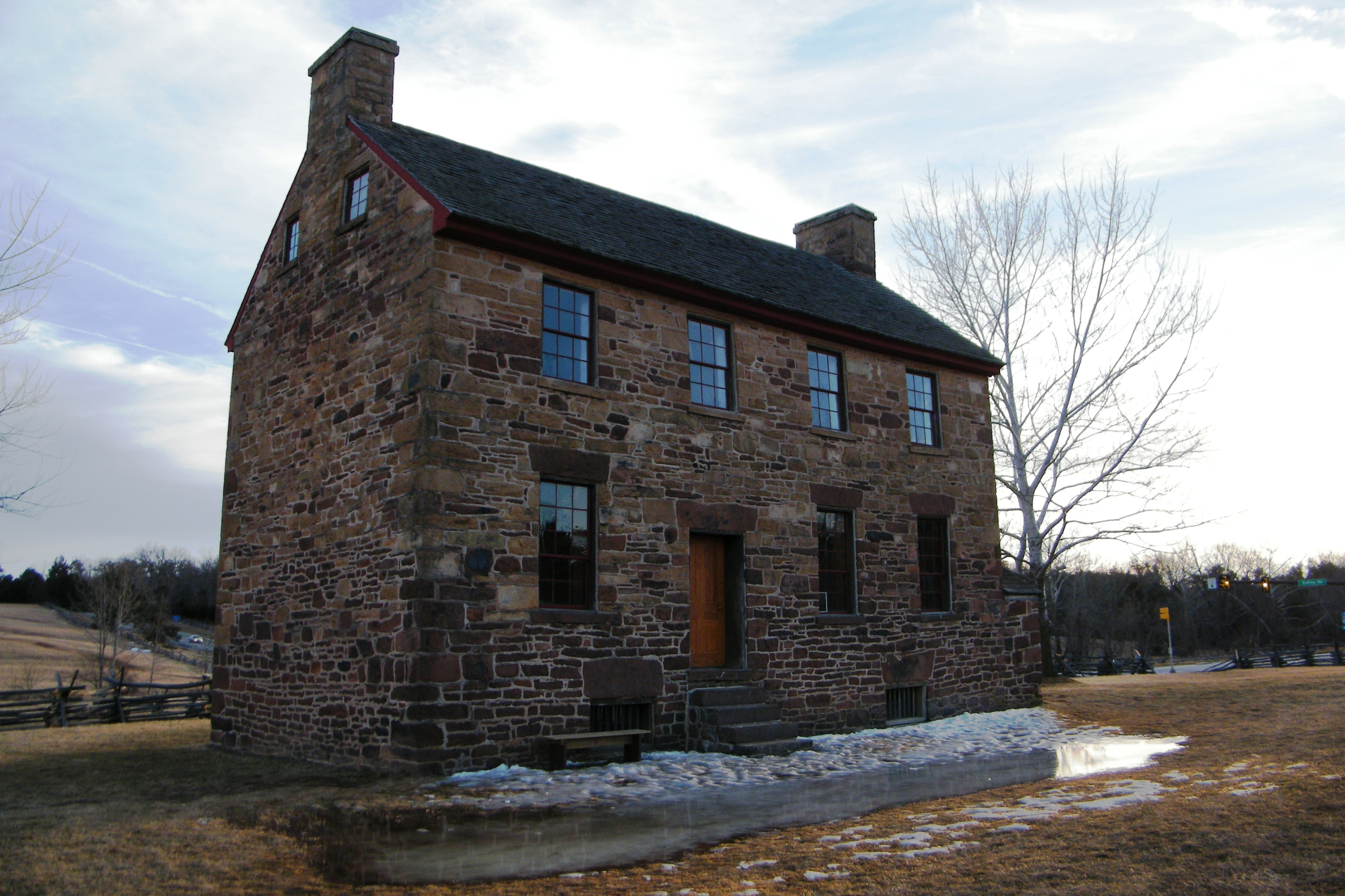 File old stone house in manassas virginia for Stone built homes