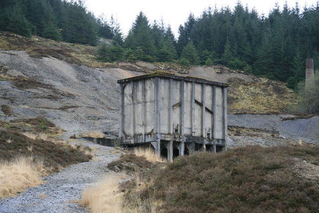 Ore bins, Nantymwyn lead mine - geograph.org.uk - 783357