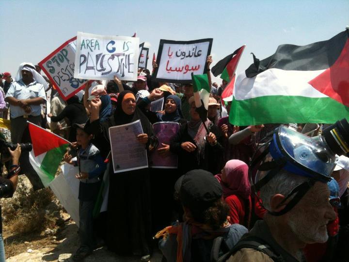 Palestinian demonstration against demolish of the village susya.jpg