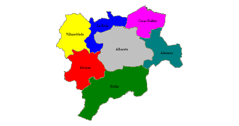 Comarcas de Albacete  Wikiwand