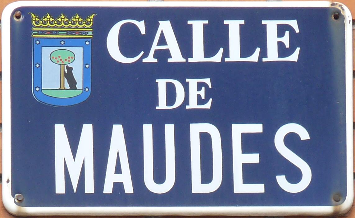 Archivo placa de la calle de maudes madrid cropped jpg - H m calle orense madrid ...
