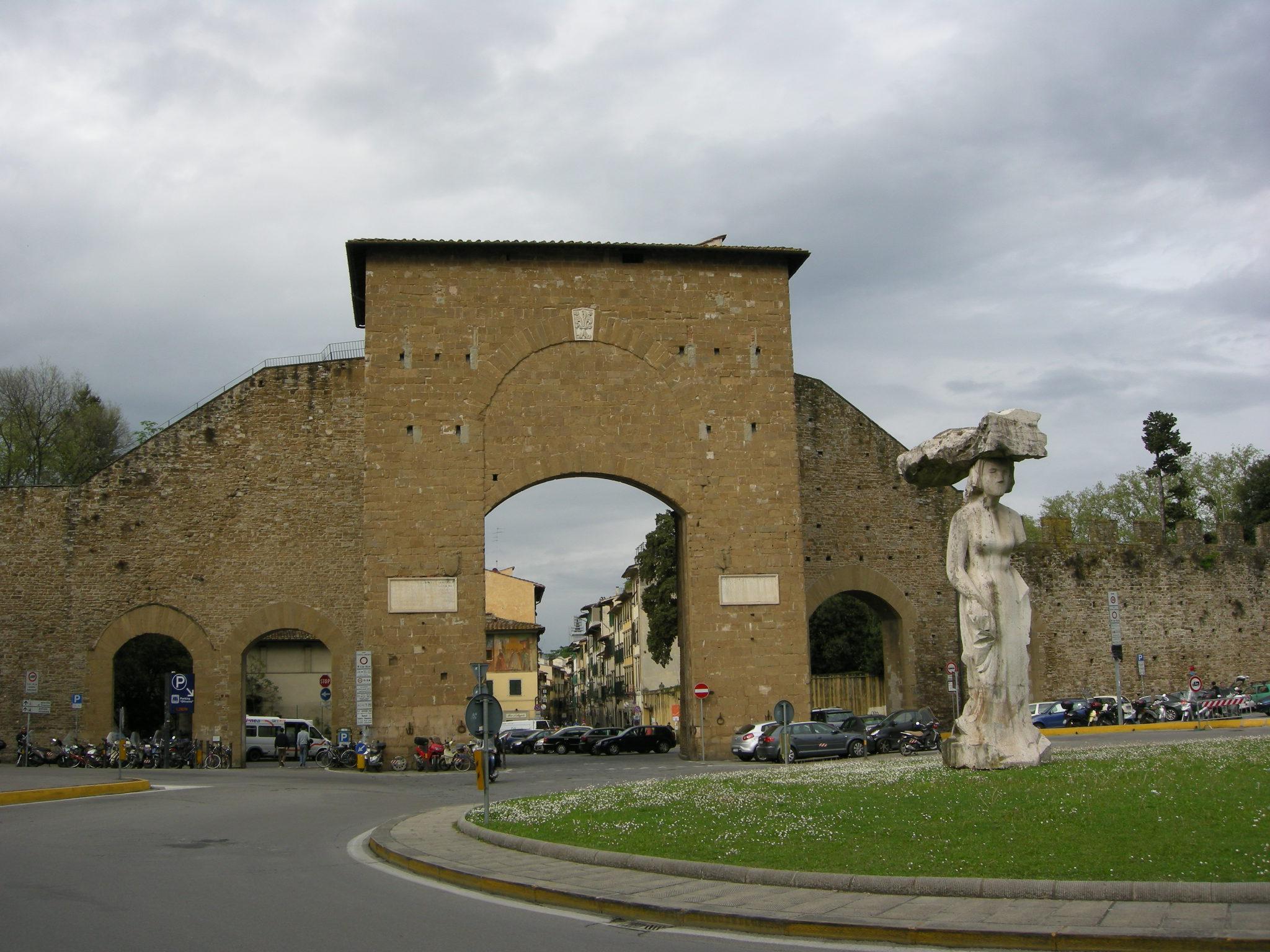 File Porta Romana Firenze Esterno Jpg Wikimedia Commons